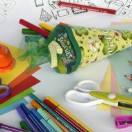Create your own party bags by decorating paper bags!